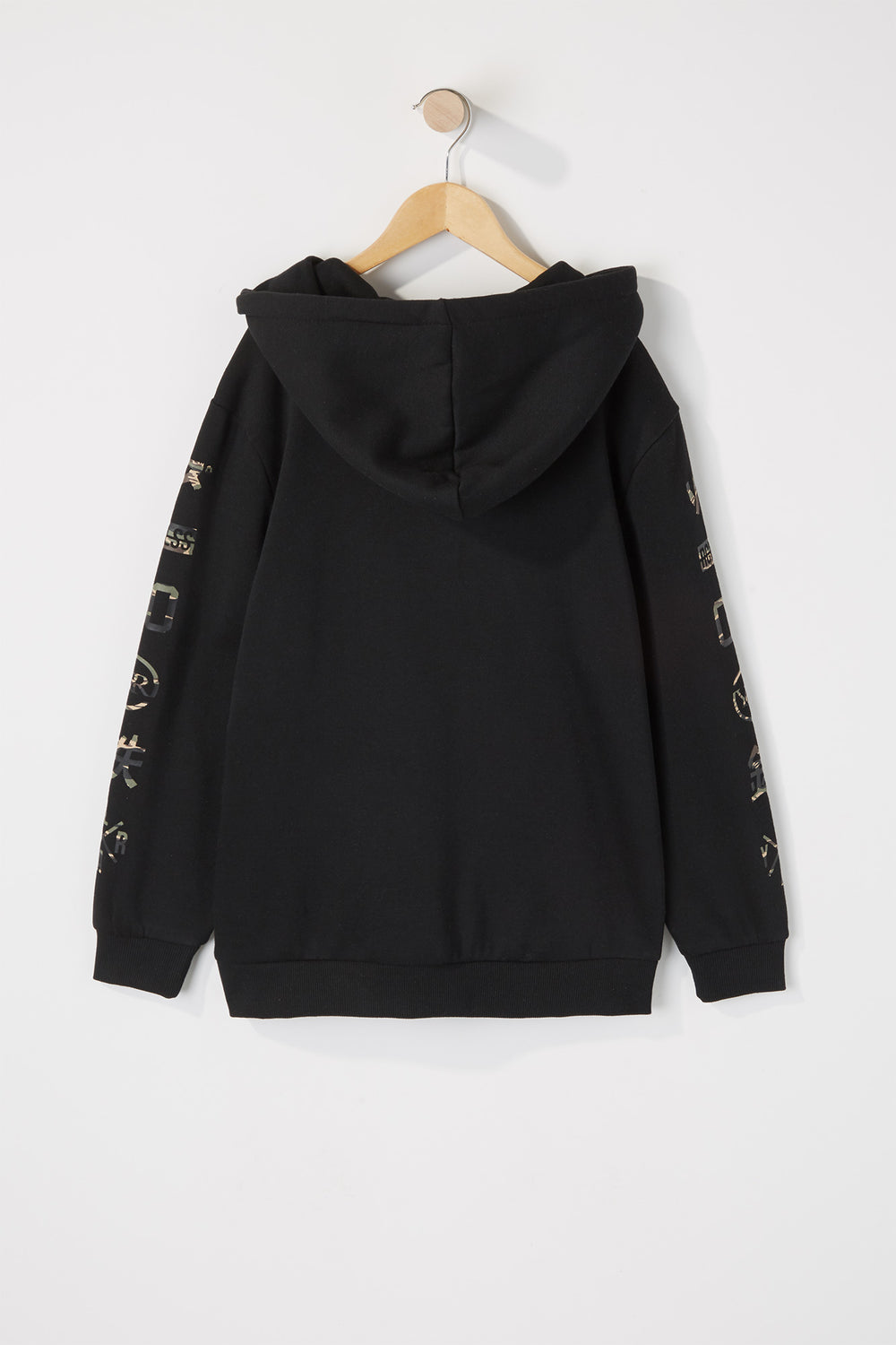 Young & Reckless Boys Camo Strikethrough Logo Hoodie Black