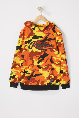 Young & Reckless Boys Orange Camo Hoodie