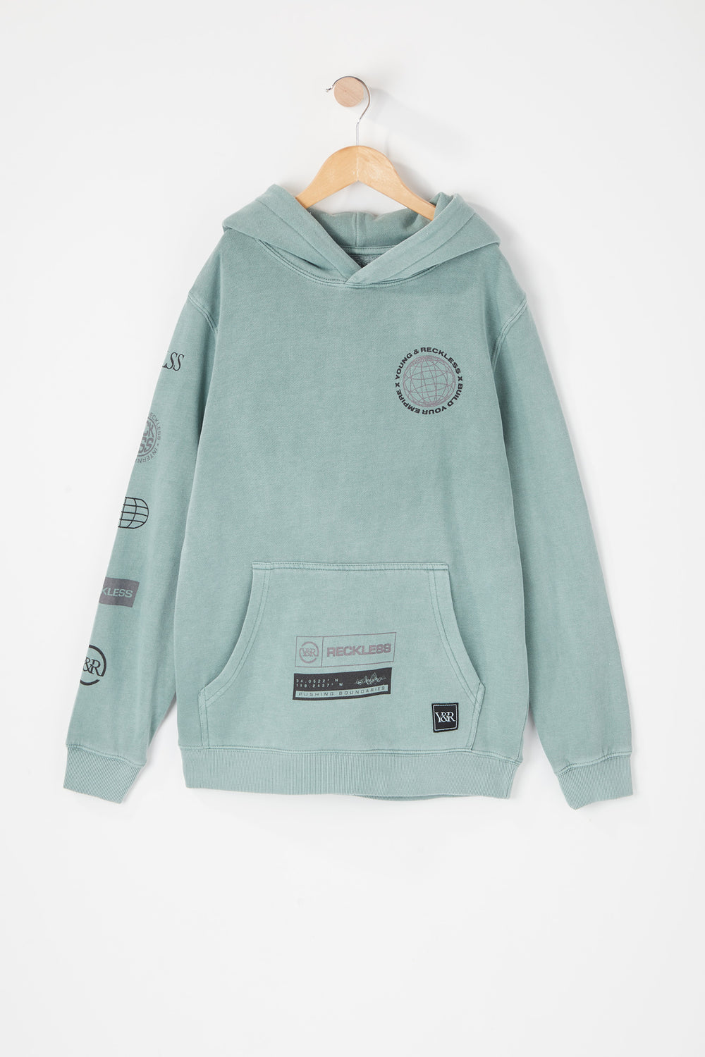 Young & Reckless Youth Vintage World Tour Hoodie Aqua