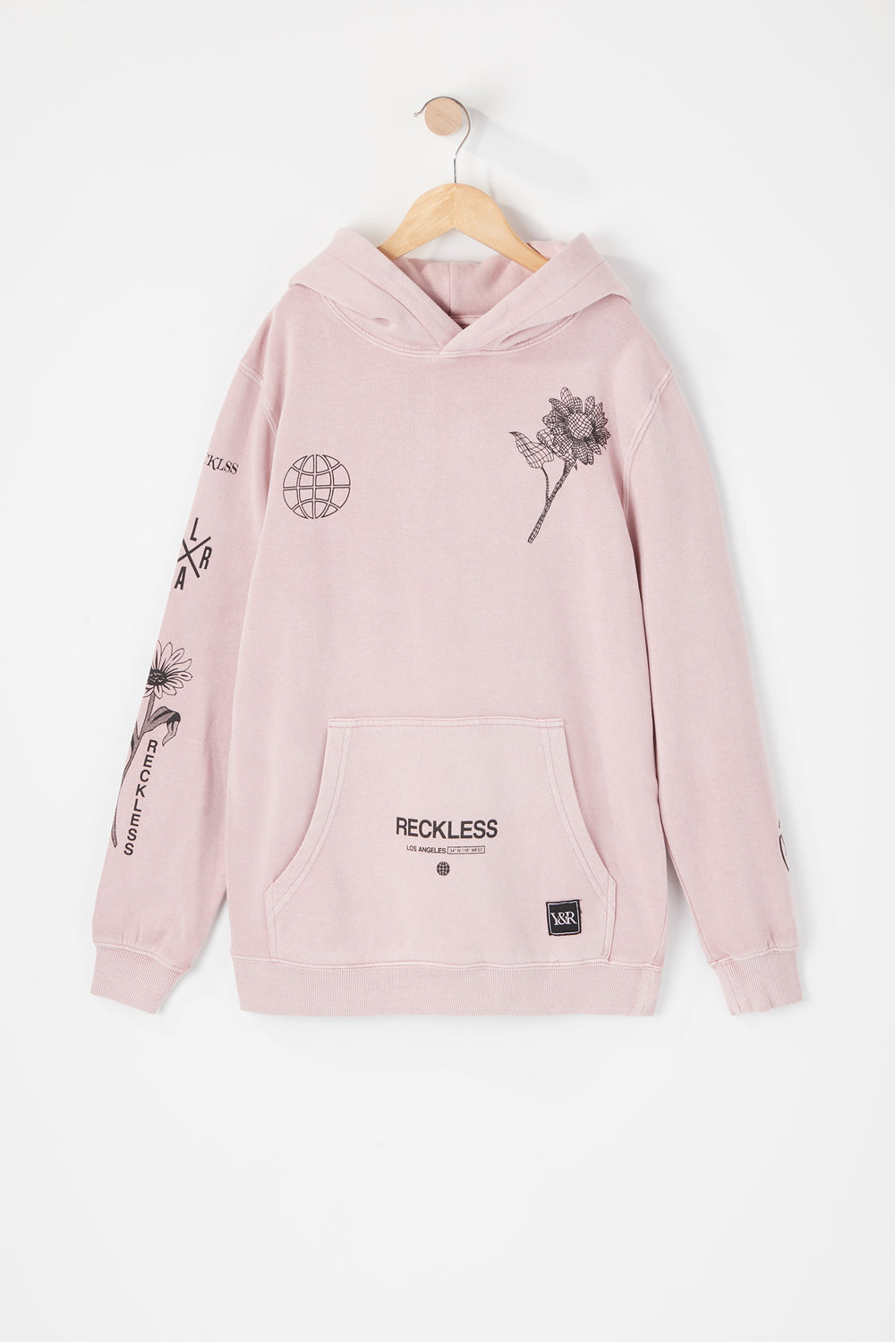 Young & Reckless Youth Vintage World Tour Hoodie Mauve
