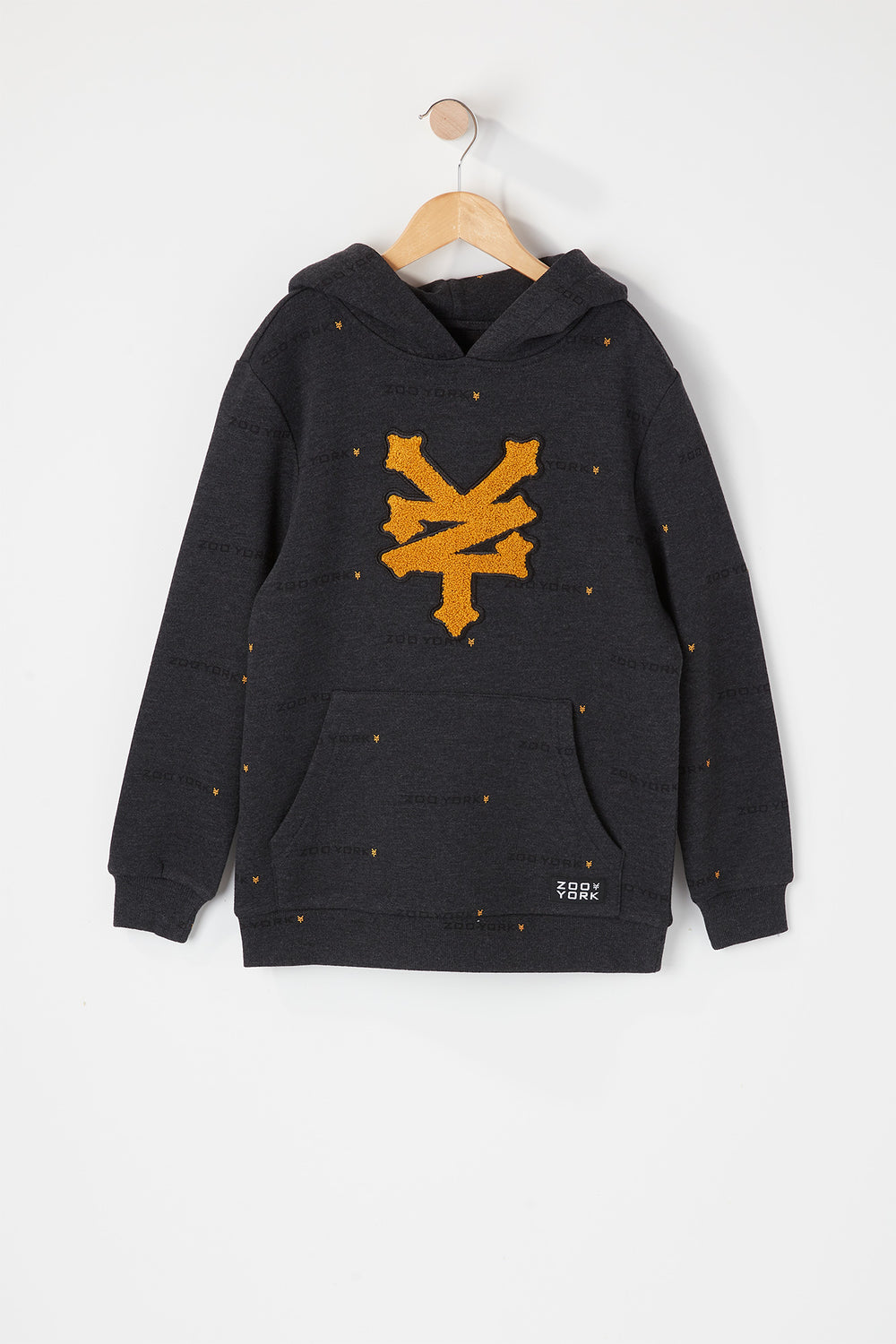 Zoo York Youth Chenille Logo Hoodie Charcoal