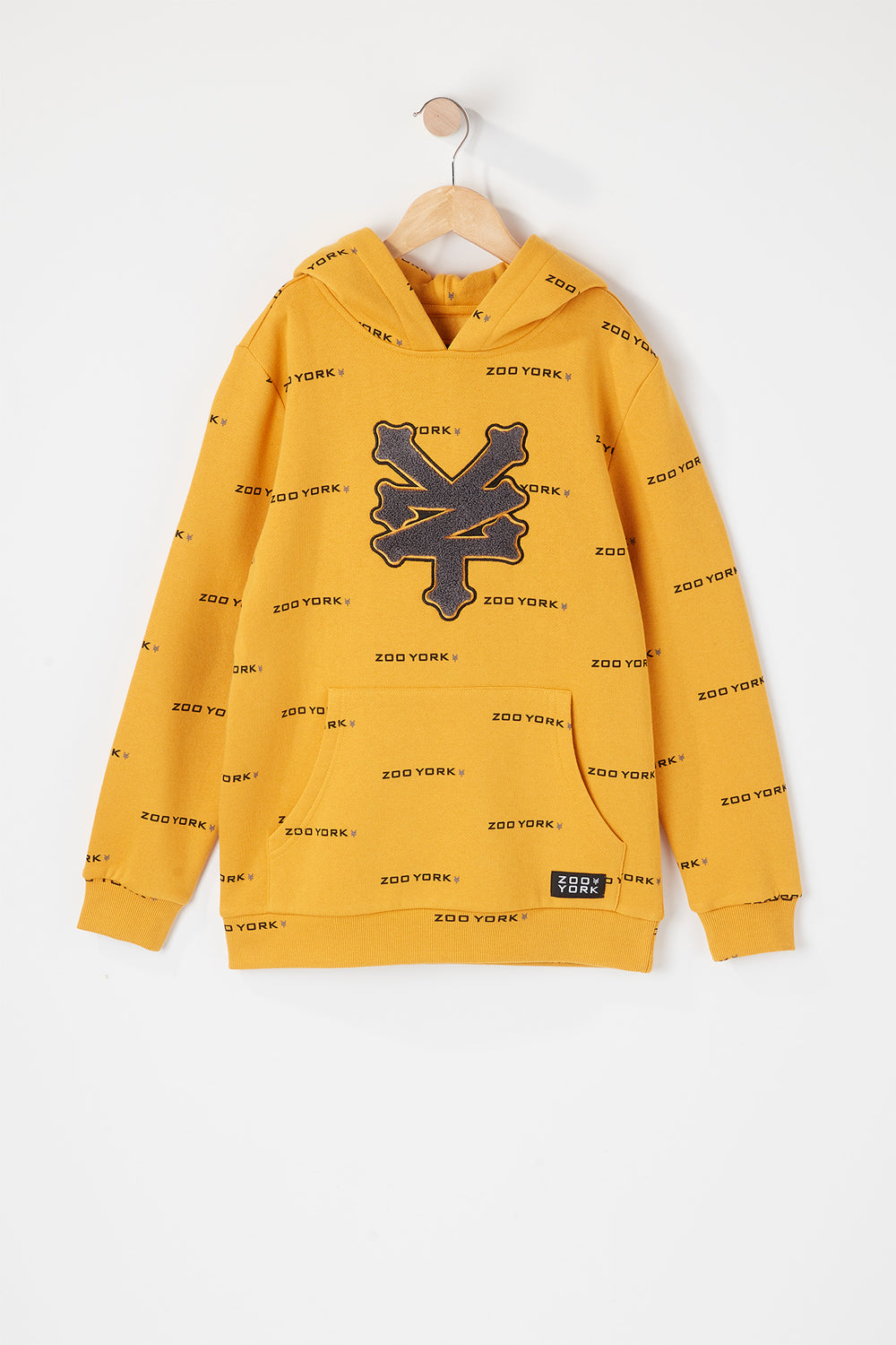 Zoo York Youth Chenille Logo Hoodie Gold