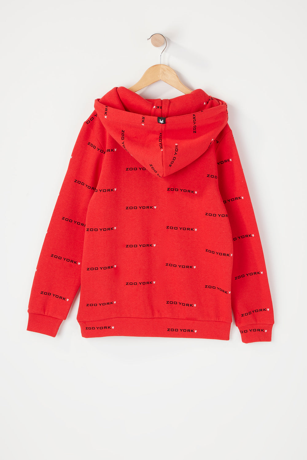 Zoo York Youth Chenille Logo Hoodie Red