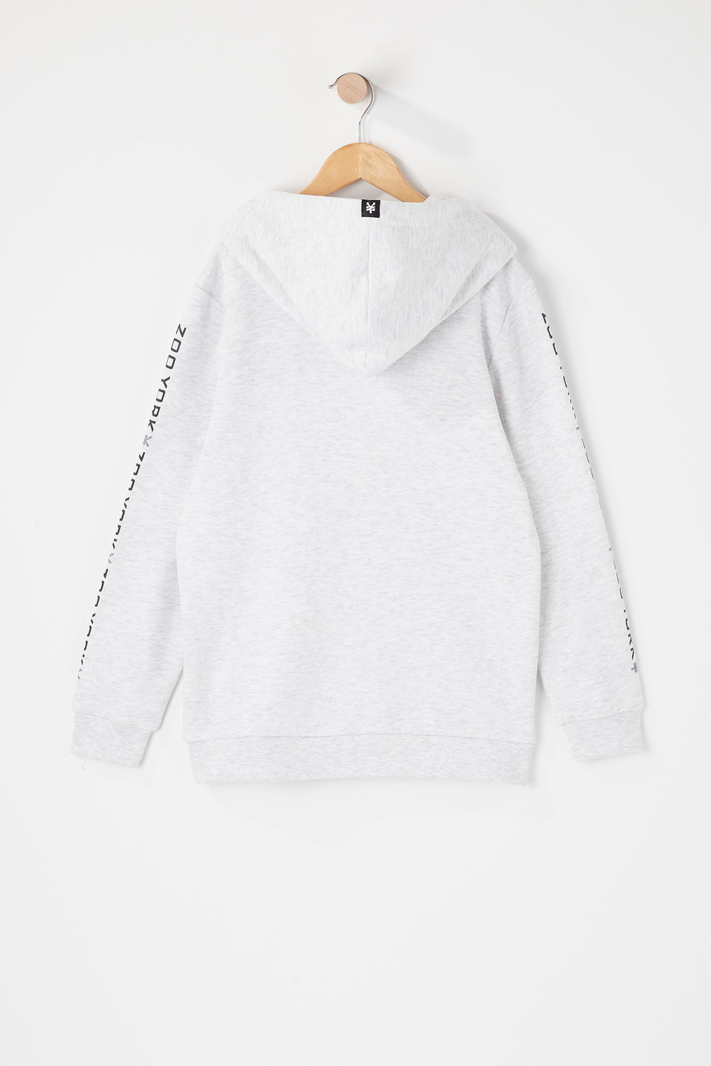 Zoo York Youth Box Logo Popover Hoodie Oatmeal