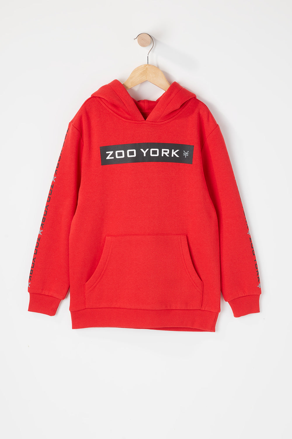 Zoo York Youth Box Logo Popover Hoodie Red