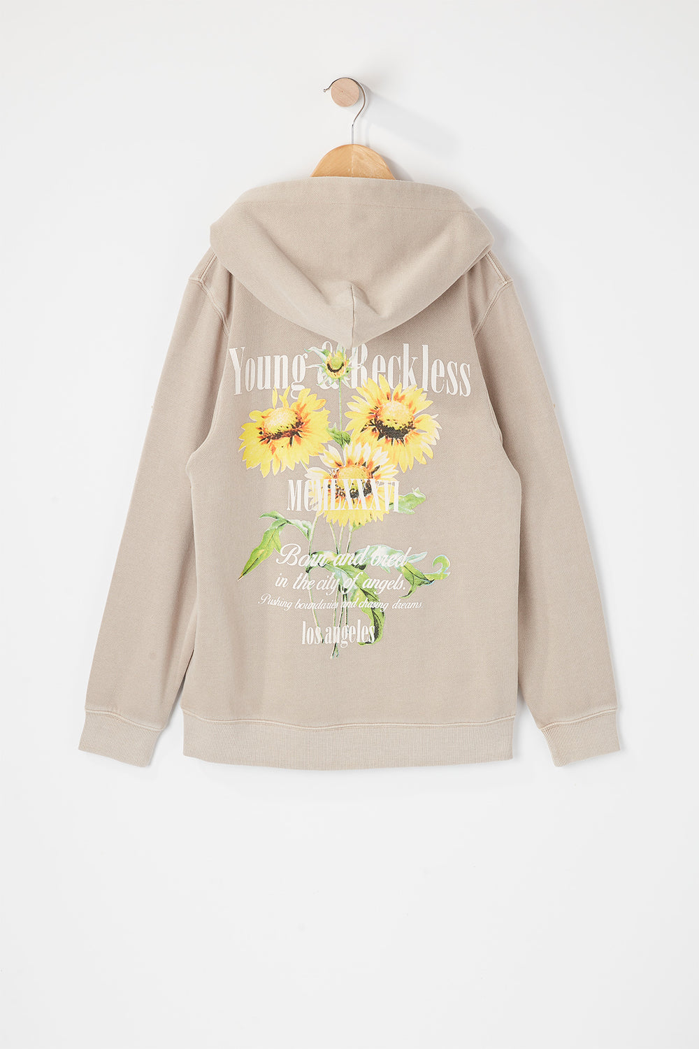 Young & Reckless Youth Vintage World Tour Hoodie Natural