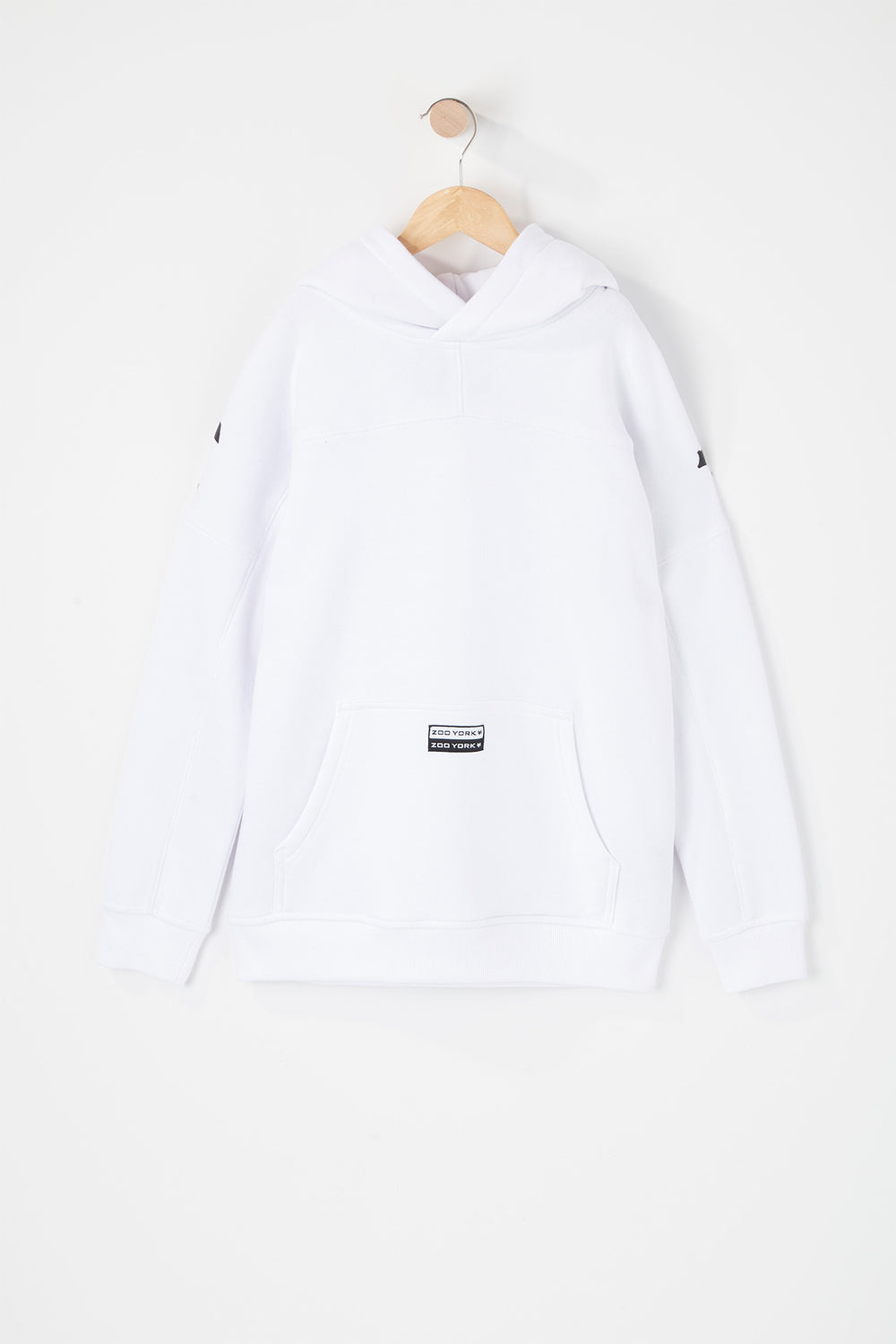 Zoo York Youth Large Shoulder Print Hoodie White