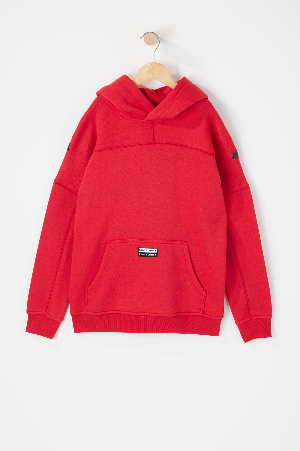 Zoo York Youth Large Shoulder Print Hoodie Red