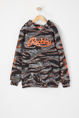 Young & Reckless Youth Tiger Camo & Neon Hoodie