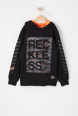 Young & Reckless Youth Tiger Camo Logo Hoodie