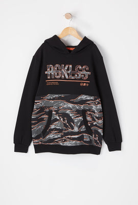 Young & Reckless Youth Tiger Camo Colour Block Hoodie