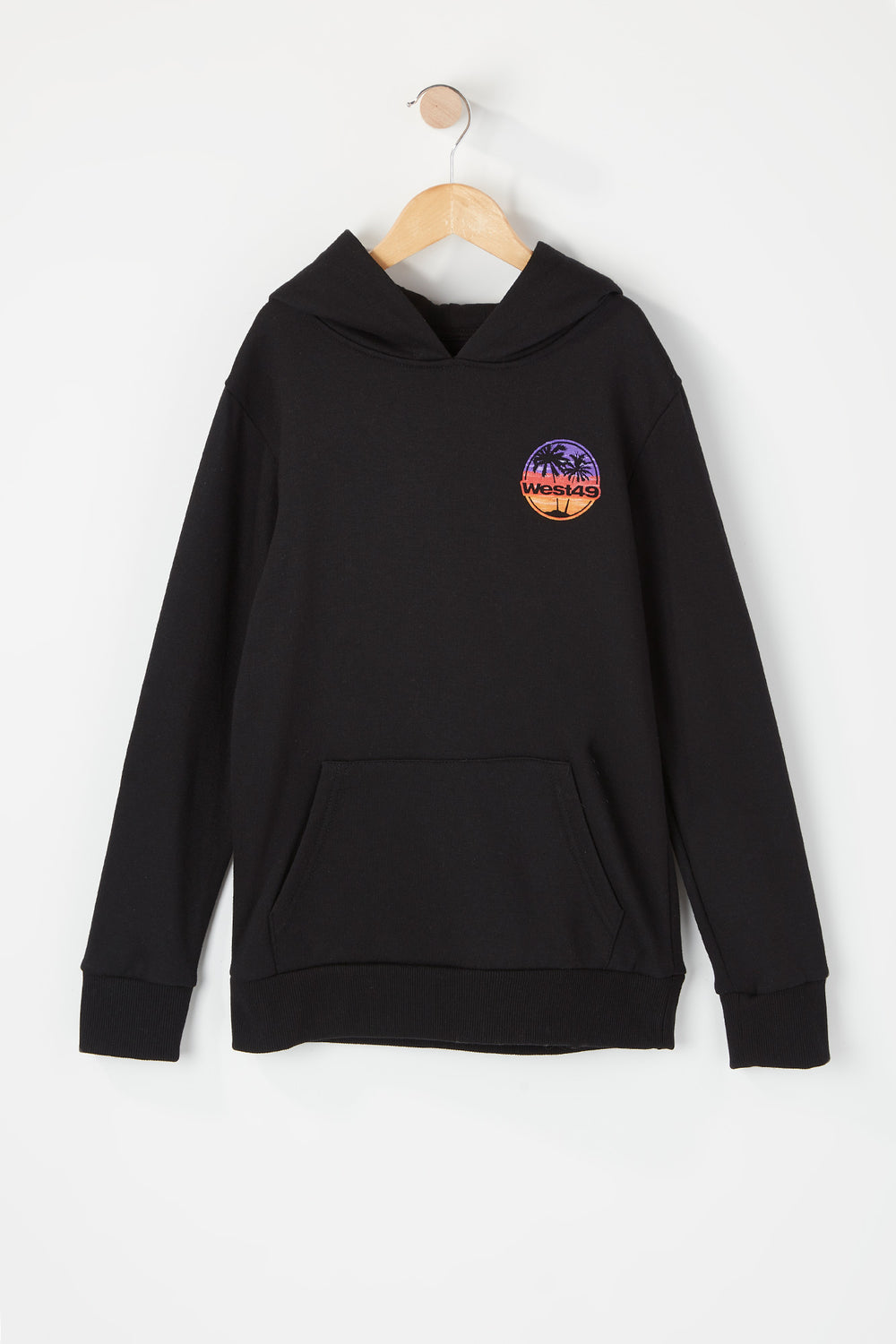 West49 Youth Sunset Logo Hoodie Black