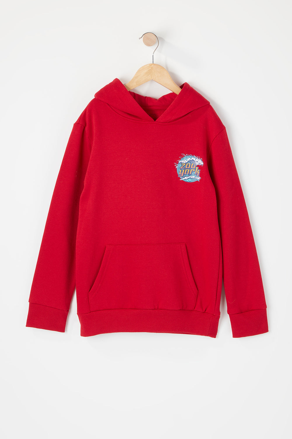 Zoo York Youth Wave Logo Hoodie Red