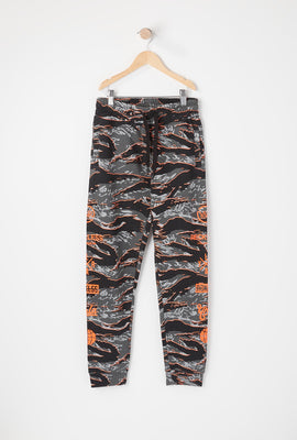 Young & Reckless Youth Tiger Camo Jogger