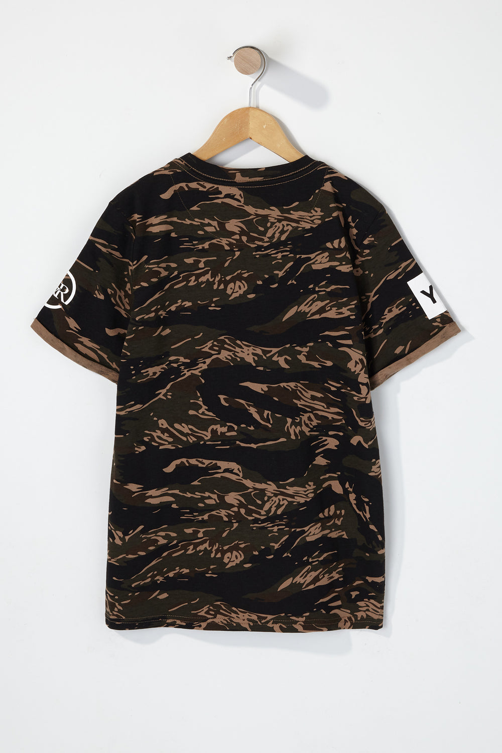 Young & Reckless Boys Colour Block Camo T-Shirt Camouflage