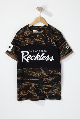 Young & Reckless Boys Colour Block Camo T-Shirt
