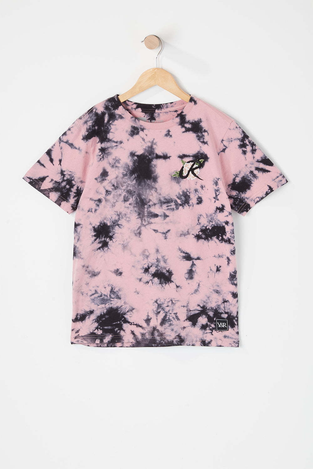 T-Shirt Tie-Dye Logo Rose Young & Reckless Junior Rose