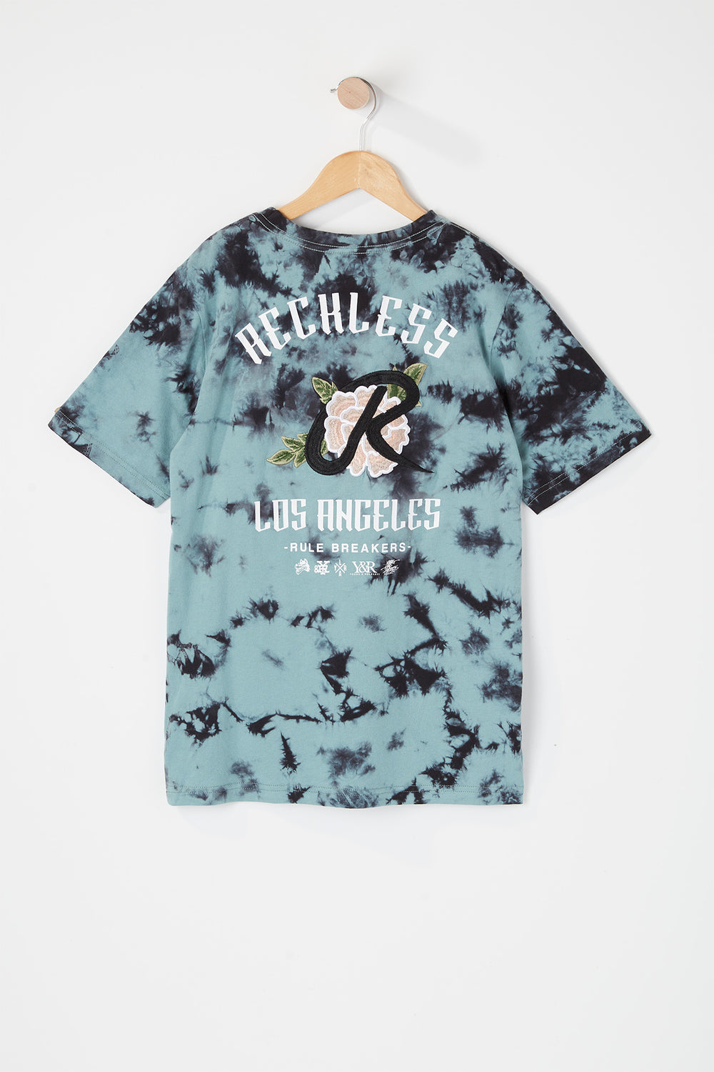 T-Shirt Tie-Dye Logo Rose Young & Reckless Junior Sarcelle