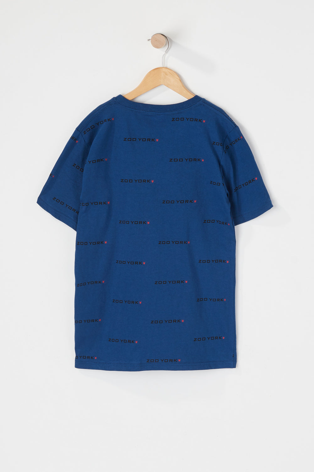 Zoo York Youth Patch Logo T-Shirt Dark Blue