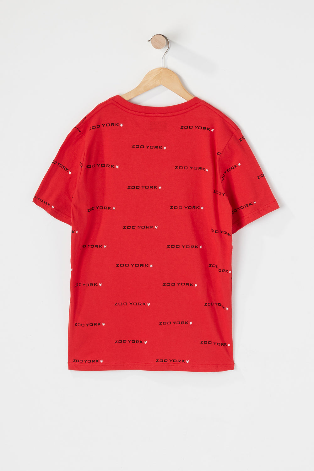 T-Shirt Avec Patch Zoo York Junior Rouge