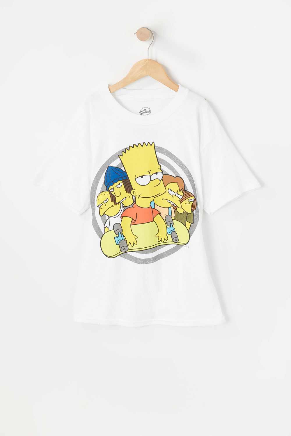 T-Shirt Junior Bart Simpson Blanc