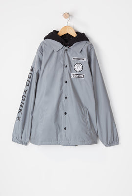 Zoo York Youth Reflective Patch Coach Jacket
