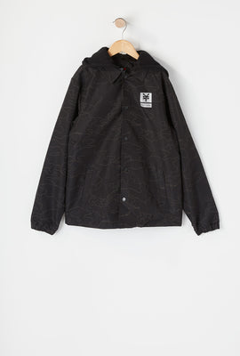 Zoo York Boys Hooded Night Camo Jacket