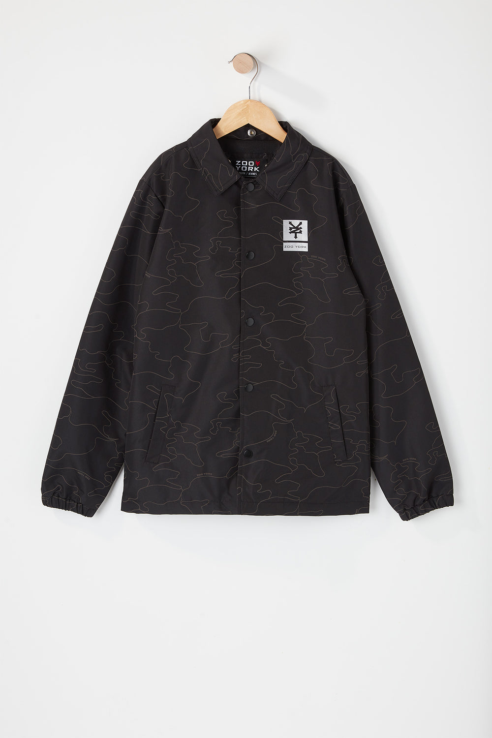 Zoo York Youth Hooded Reflective Camo Jacket Buffalo Check