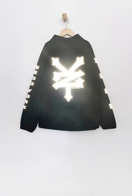 Zoo York Boys Reflective Snap-Button Hooded Jacket