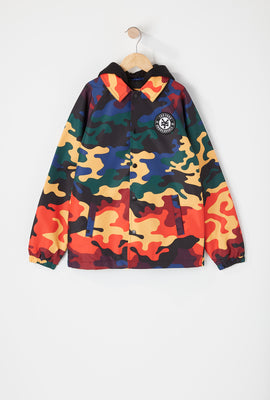Zoo York Youth Rainbow Camo Coach Jacket