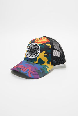 Zoo York Youth Rainbow Camo Trucker Hat