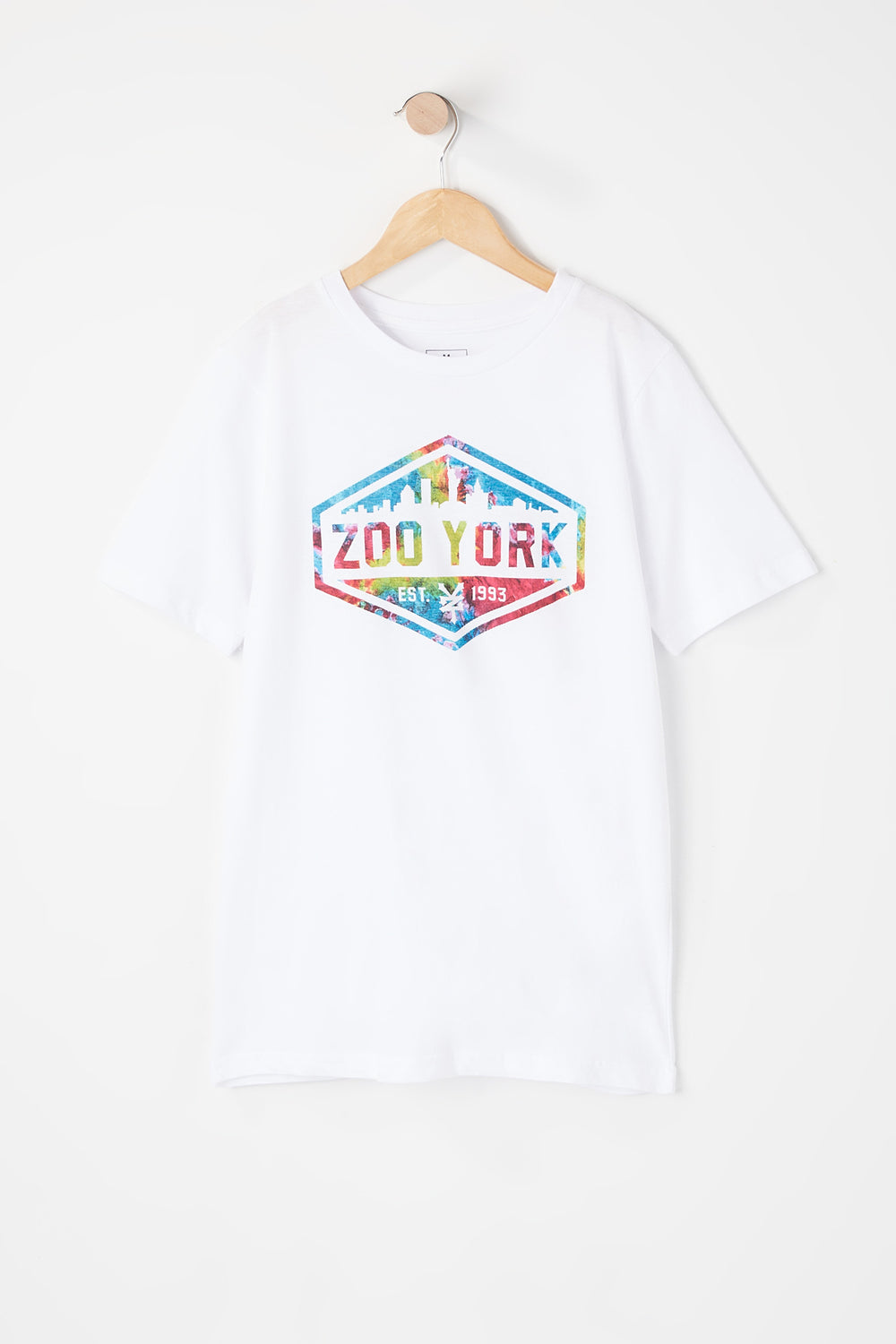 T-Shirt Logo Tie-Dye Zoo York Junior Blanc