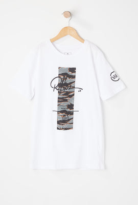 Young & Reckless Youth Tiger Camo Logo T-Shirt