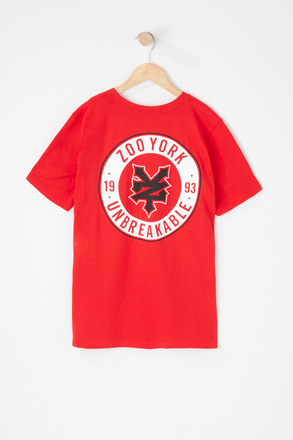 T-Shirt Logo Cercle Zoo York Junior Rouge