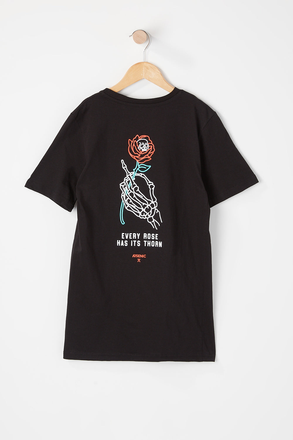T-Shirt Every Rose Has Its Thorn Arsenic Junior Noir