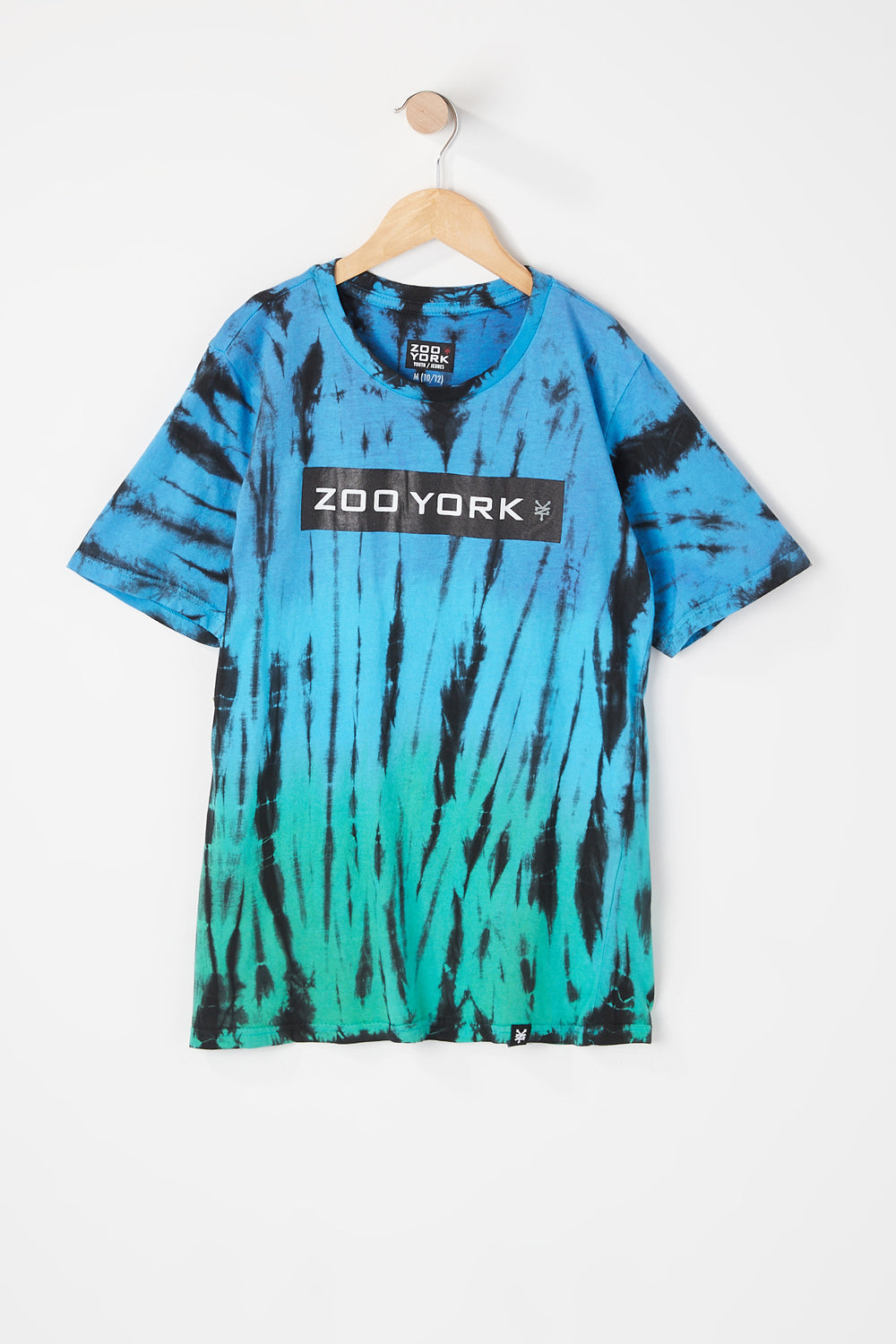 T-Shirt Tie-Dye Zoo York Junior Bleu mer