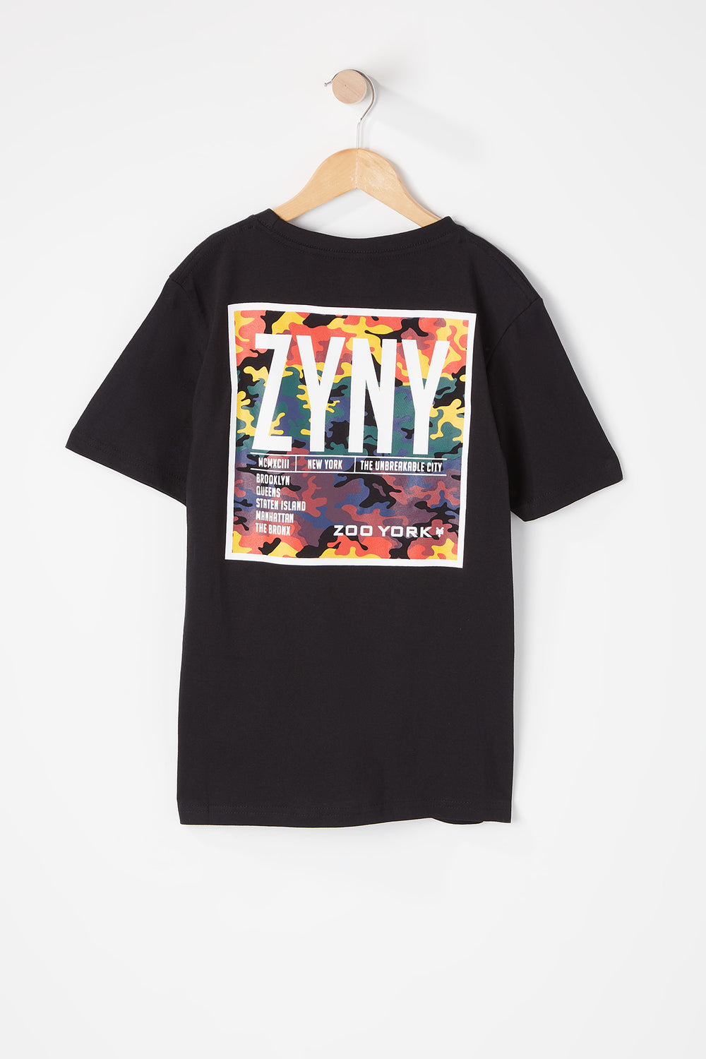 T-Shirt Logos Camouflage Multicolore Zoo York Junior Noir