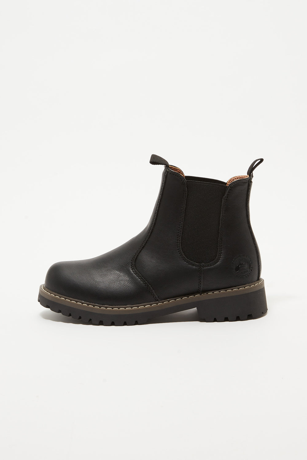 Storm Mountain Youth Faux-Fur Chelsea Boots Black