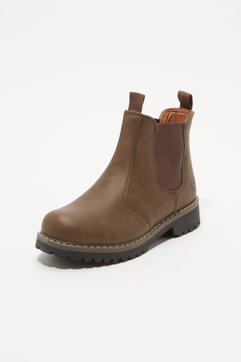 Storm Mountain Youth Faux-Fur Chelsea Boots Brown