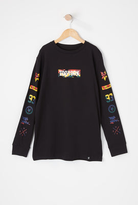 Zoo York Youth Rainbow Camo Long Sleeve Shirt