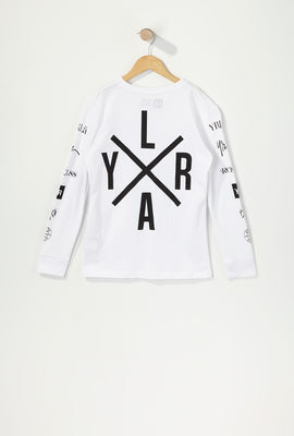 Young & Reckless Boys Printed Logos Long Sleeve Shirt