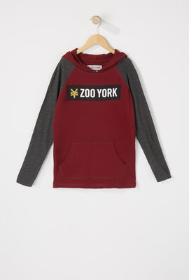 Zoo York Boys Colour Block Hooded Long Sleeve