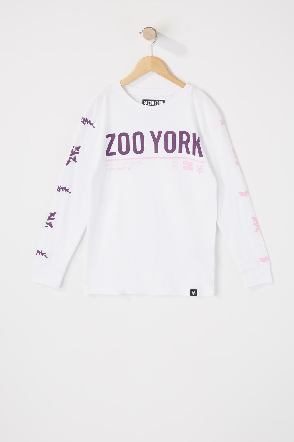 Zoo York Boys Fear Nothing Long Sleeves Shirt White