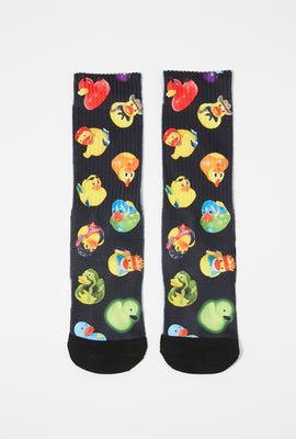 Zoo York Boys Rubber Duckie Graphic Crew Socks