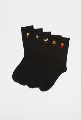 West49 Youth 5-Pack Fast Food Crew Socks