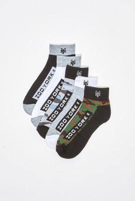 Zoo York Youth Camo Ankle Socks 5-Pack