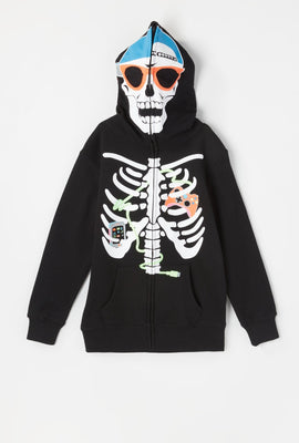 Youth Skeleton Gamer Peeper Hoodie