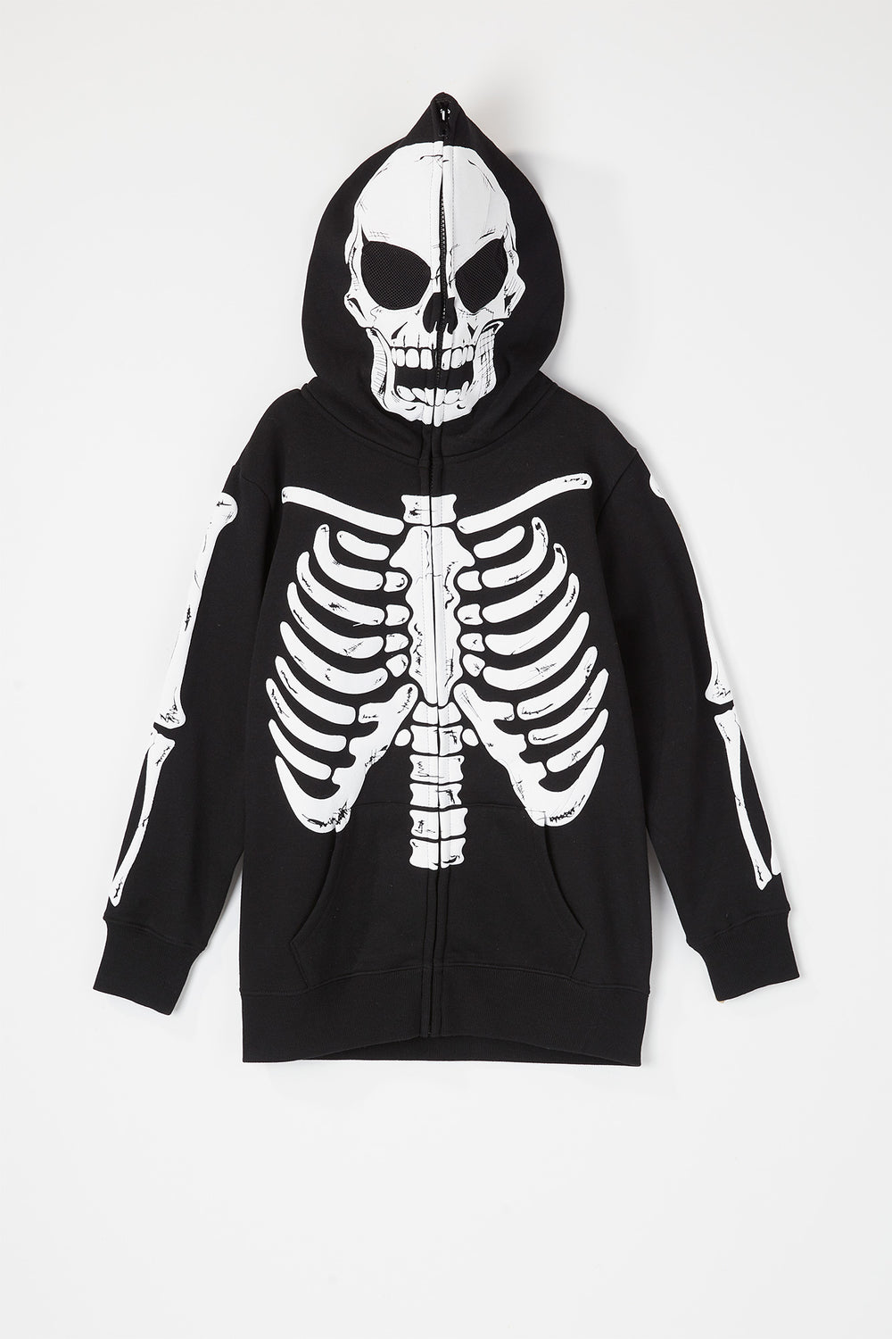 Youth Skeleton Peeper Hoodie Black