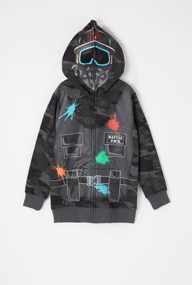 Youth Camo Paintballer Peeper Hoodie