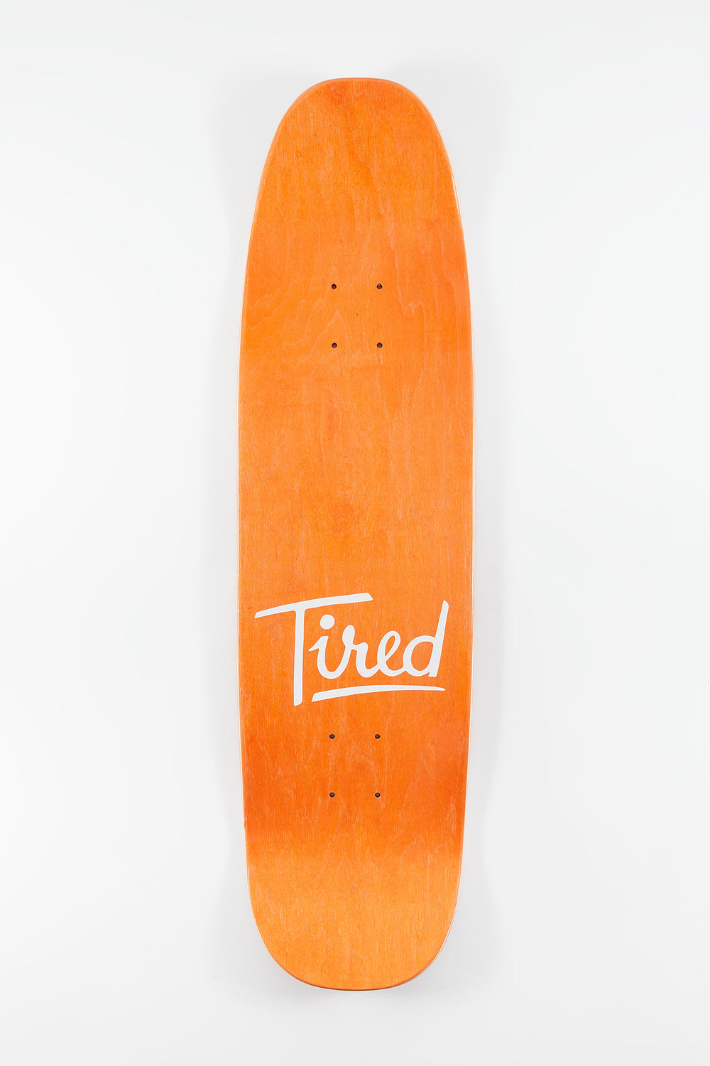 Tired Logo two On Chuck Skateboard Deck 8.1
